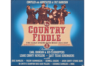 Earl & His Clodhoppers Johnson, Lake Country Revelers, East Texas Serenaders, The Dixie Ramblers, The Grinnell Giggers, Aiken Country String Band, Dr Smith`s Champion Hoss Hair Pullers, Cherokee Ramblers, Freeny Harmonizers, VARIOUS - Country Fiddle - 1924-1937 - (CD)