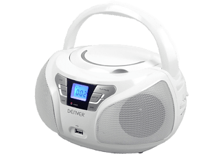 DENVER TCU-206 Radio / CD-Spelare - Vit