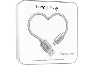 HAPPY PLUGS Lightning To USB Şarj ve Senkronizasyon Kablosu (2.0m) Space Gray