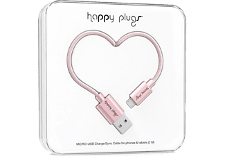 HAPPY PLUGS Micro USB To USB Şarj/Senkronizasyon Kablosu 2 m Pink Gold