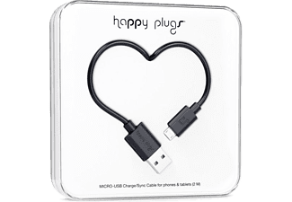 HAPPY PLUGS Micro USB To USB Şarj/Senkronizasyon Kablosu 2 m Black