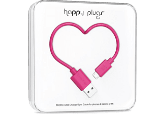 HAPPY PLUGS Micro USB To USB Şarj/Senkronizasyon Kablosu 2 m Cerise