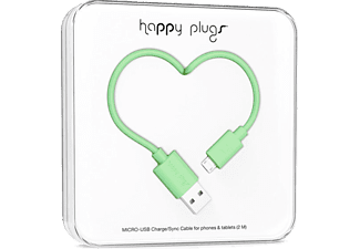 HAPPY PLUGS Micro USB To USB Şarj/Senkronizasyon Kablosu 2 m Mint