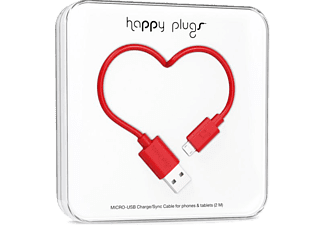 HAPPY PLUGS Micro USB To USB Şarj/Senkronizasyon Kablosu 2 m Red