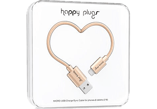 HAPPY PLUGS Micro USB To USB Şarj/Senkronizasyon Kablosu 2 m Champagne