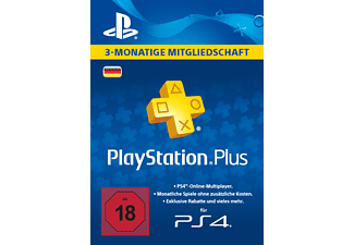 PlayStation Plus Card 3 Monate (für deutsche SEN-Konten)