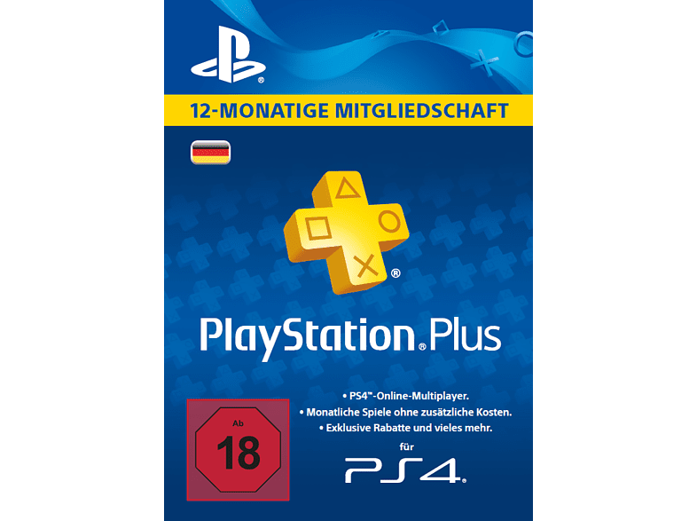 PlayStation Plus Card 12 Monate (für deutsche SEN-Konten)