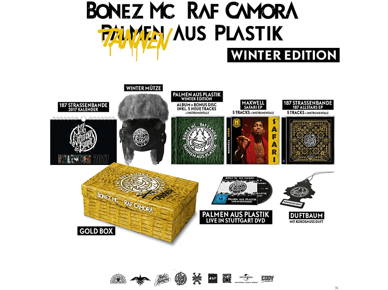 Bonez MC & RAF Camora, Maxwell, Gzuz, Lx - Palmen aus Plastik Winter Edt (Tannen aus Plastik) [CD + DVD Video]