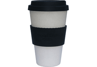 ECOFFEE CUP BLACK NATURE kávéspohár fedővel, 400ml