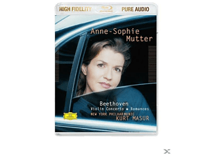 Anne-Sophie Mutter, New York Philharmonic Orchestra - Violinkonzert + Violinromanzen (Pure Audio) - (Blu-ray Audio)