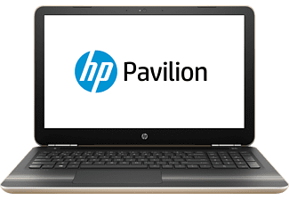 HP Pavilion 15-au170ng, Notebook mit 15.6 Zoll Display, Core™ i5 Prozessor, 8 GB RAM, 1 TB HDD, 128 GB SSD, GeForce 940MX, Gold