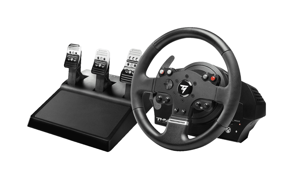 THRUSTMASTER TMX Force Feedback PRO (inkl. 3-Pedalset, Xbox One / PC) Lenkrad - Schwarz