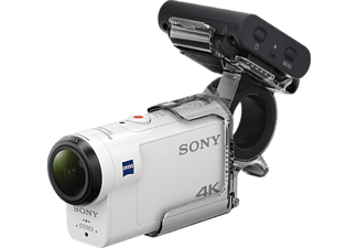 SONY FDR-X3000RFDI 4K + RM-LVR3 + AKA-FGP1 Zeiss Action Cam, WLAN, Near Field Communication, GPS, Weiß