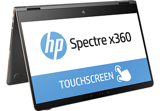 HP Spectre x360 15-BL030NG, Convertible mit 15.6 Zoll Display, Core™ Prozessor, 16 GB RAM, 512 GB SSD, GeForce 940MX, Dark Ash Silver/Aluminium