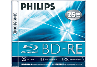 PHILIPS Pack 5 BD-RE 25GB 2 x (BE22S2J01F)
