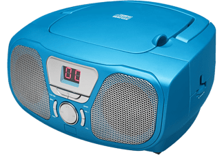 BIGBEN Draagbare radio CD Blauw + stickers (CD46BLSTICK)