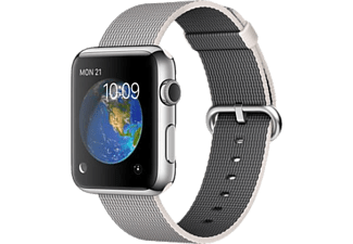 APPLE Smart Watch MMG02TU/A 42 mm Paslanmaz Çelik Kasa ve Naylon Örme İnci Grisi Kordon