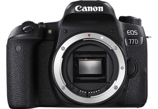 CANON EOS 77D Body Spiegelreflexkamera, 24.20 Megapixel, Full HD, Touchscreen Display, WLAN, Schwarz