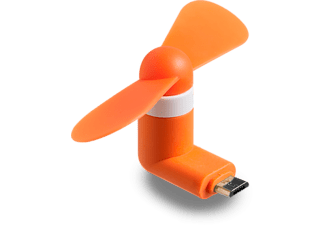 SPADA Mini-Ventilator Micro-USB , neonorange