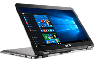 ASUS TP501UQ-FZ119T, Convertible mit 15.6 Zoll Display, Core™ i5 Prozessor, 8 GB RAM, 256 GB SSD, GeForce 940MX, Dark Grey-Metal