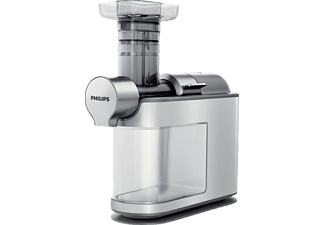 PHILIPS HR1945/80, Slow Juicer, Weiß/Grau