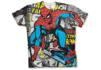 Spiderman T-Shirt Comic allover Print L