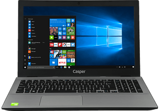 "CASPER F800.7500-B140P-S-IF i7-7500U 16GB 1TB+128GB SSD 2GB 940MX 15.6"" Laptop"