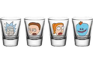 "GB EYE Rick and Morty Schnapsgl""serset Charaktere Schnapsgläser, Transparent"