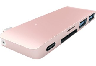 SATECHI PASSTHROUGH, USB Typ-C Hub, Rose Gold