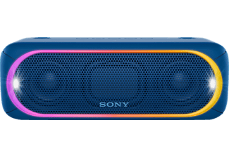 SONY SRS-XB30, Bluetooth Lautsprecher, Near Field Communication, Wasserfest, Blau
