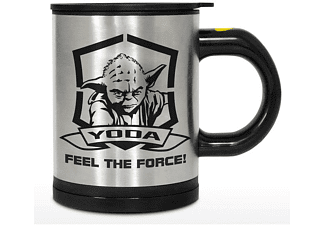 Star Wars selbstumrührende Tasse Yoda Feel the Force