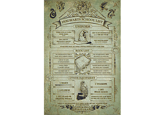 "Harry Potter Poster ""Hogwarts School List"" Hausordnung"