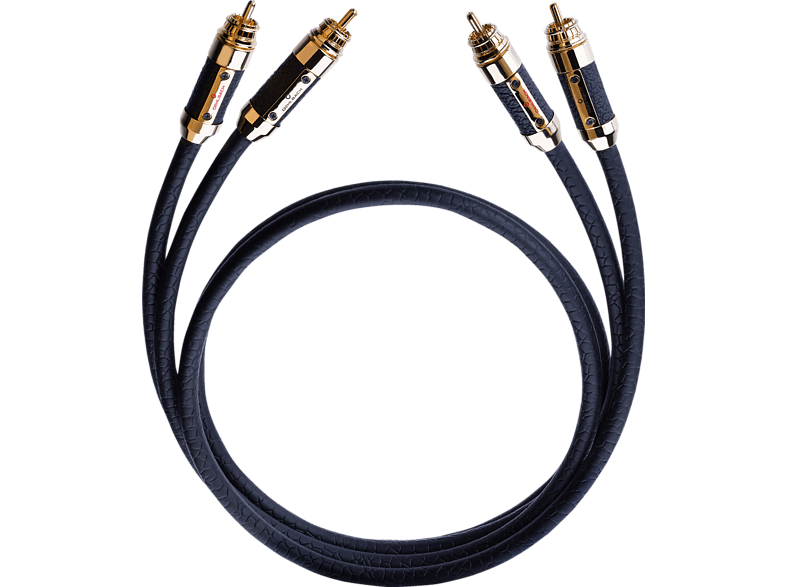 OEHLBACH XXL® Black Connection 2x 0.75 m Master Set Cinchkabel, Schwarz