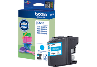 BROTHER LC221C Cyaan (LC-221CBP)