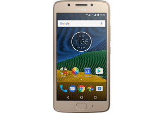 Móvil - Motorola Moto G5, 5'', Full HD, Qualcomm Snapdragon 430, 3 GB RAM, 16GB, 13 MP + 5MP, Dorado
