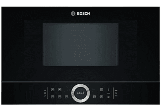 Microondas integrable - Bosch BFL634GB1, 900W, Capacidad 21L, Acero inoxidable, Negro