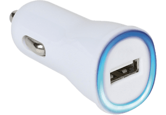 VIVANCO USB Billaddare 2.1 A - Vit