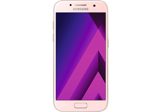 SAMSUNG Galaxy A3 (2017), Smartphone, 16 GB, 4.74 Zoll, Peach Cloud