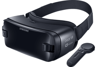 SAMSUNG Gear VR mit Controller ((SM-R324)), Virtual Reality Brille, Orchid Gray