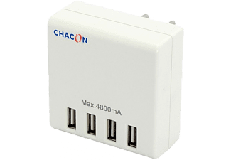 CHACON Chargeur USB universel 4 ports (40030)