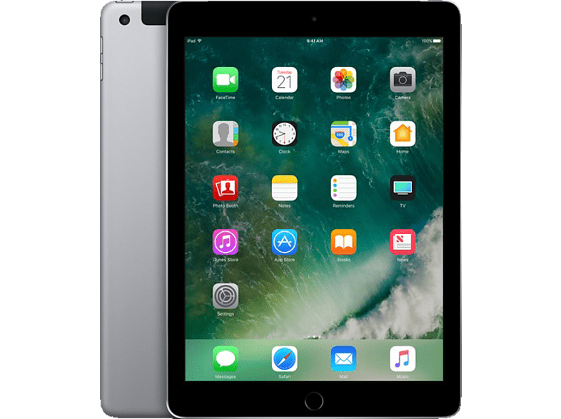 APPLE MP242FD/A iPad Wi-Fi + Cellular, Tablet , 32 GB, LTE, 9.7 Zoll, Space Grey