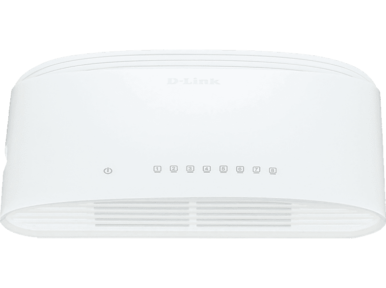 D-LINK DGS-1008D Switch, Weiß