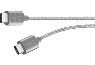 BELKIN MIXIT↑ Metallic USB-C to USB-C Charge Cable Gray - (F2CU041BT06-GRY)