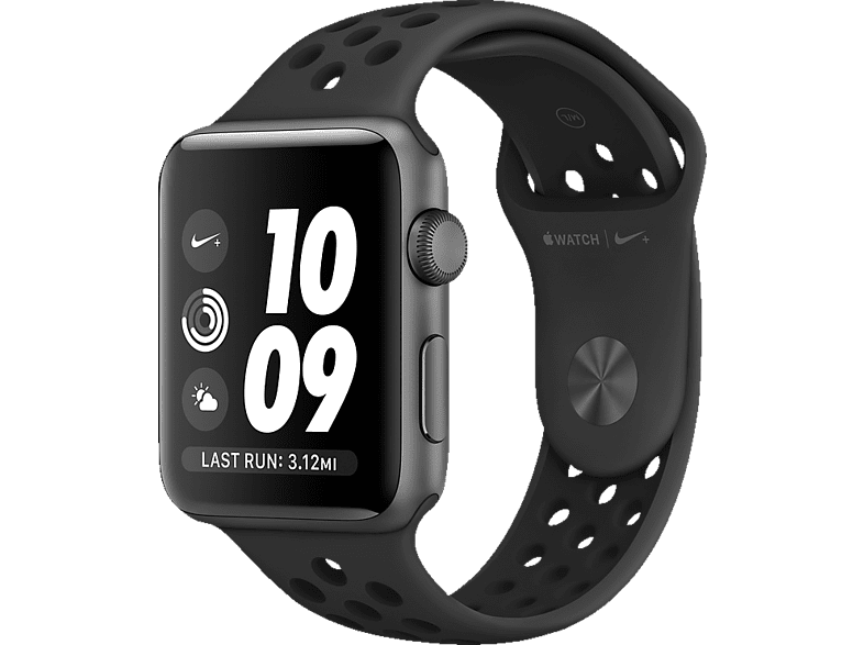 APPLE Watch Series 2 Nike+ Smart Watch Aluminium Polymer, 38 mm, Space Grey | 00190198398307