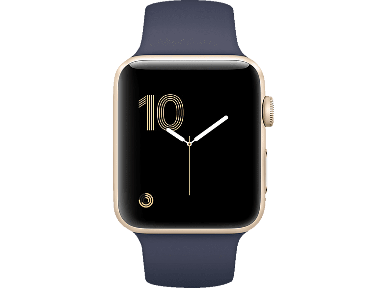 APPLE Watch Series 1 Smart Watch Aluminium Sportband, 42 mm, Gold/Mitternachtsblau | 00190198397232