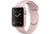 APPLE  Watch Series 2 Smart Watch Aluminium, Polymer, 42 mm, Rosegold/Sandrosa