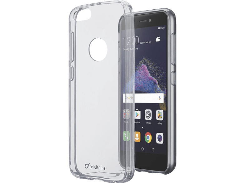 CELLULAR LINE Clear Duo , Backcover, Huawei, P8 Lite (2017), Thermoplastisches Polyurethan, Transparent
