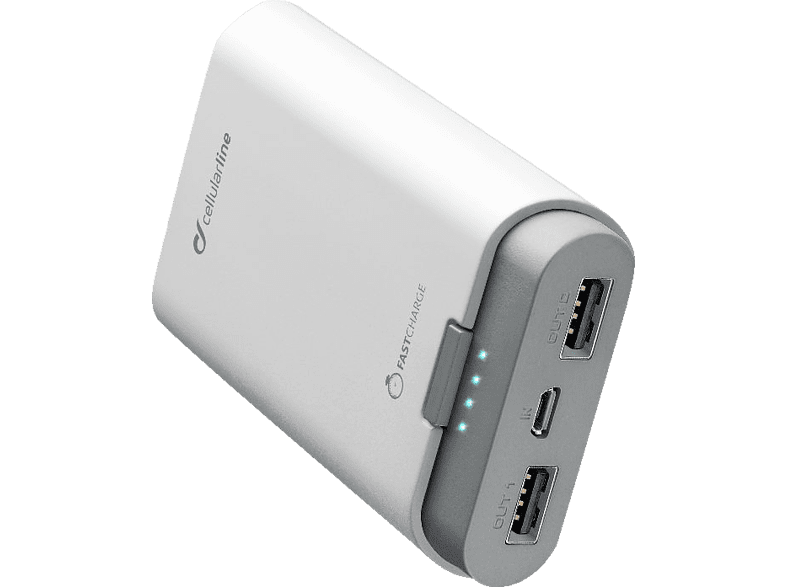 CELLULAR LINE Free Power Powerbank 7800 mAh Weiß