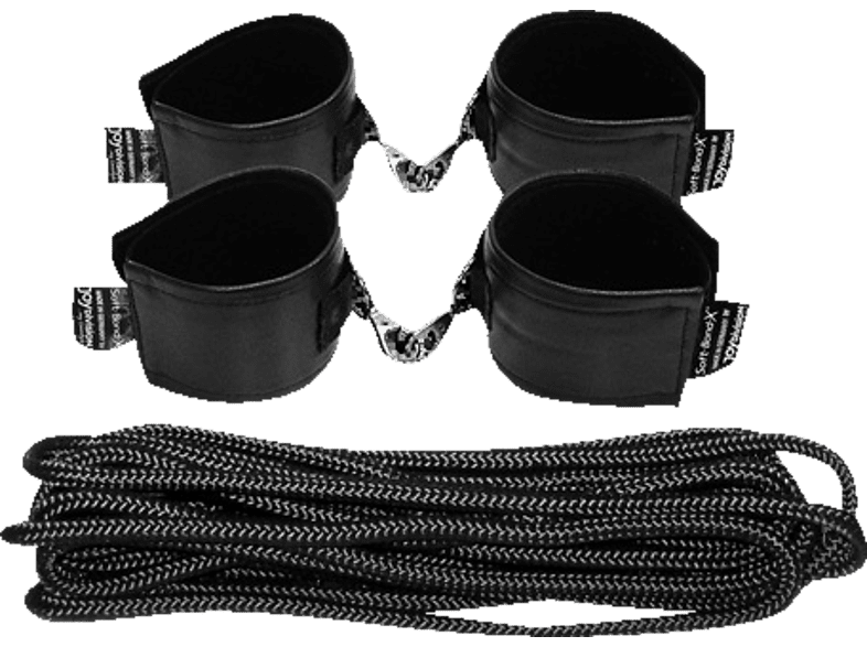 JOYDIVISION Soft-Leather-Bond-X Set 8-tlg Bondage