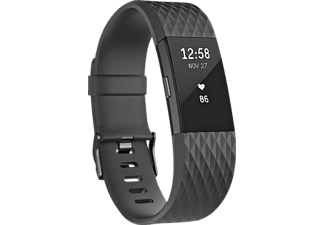 FITBIT  Charge 2 Special Edition Small, Activity Tracker, 140-170 mm, Kunststoff, Schwarz/Schwarz